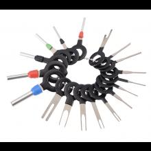 Elektrische terminal verwijdering set 18 stuks Remove key tool hulpmiddel elektrische krimp verbindingen / HaverCo