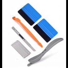 Sticker applicatie set Vinyl montage kit Carwrap gereedschap incl Squeegee Mesje / HaverCo