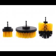 Borstels 3x voor op de boormachine Schoonmaakborstel schoonmaakborstels Grondig reinigen / HaverCo