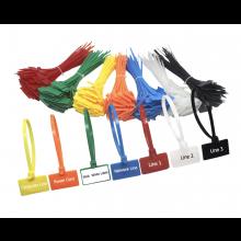 100 stuks Tierip labels zegels in verschillende kleuren gemengd 100x Tiewraps Tywraps Kabelbinders met hangers / HaverCo