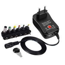 Universele stroom adapter poweradapter 3V 4.5V 5V 6V 7.5V 9V 12V / 30W 2A 2.5A / HaverCo