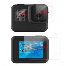 Screenprotector voor GoPro Hero 8 (6 stuks) screenprotectors 9H gehard glas / HaverCo