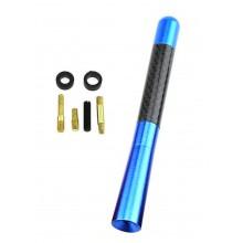 Korte antenne voor auto Blauw / Autoantenne / Met carbon motief / HaverCo