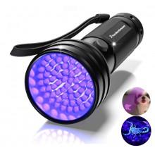 UV-lamp zaklamp UV Ultraviolet 51x LED / 395-400NM / HaverCo