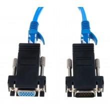 VGA over RJ45 CAT-kabel adapters 2x (male+female) CAT5 CAT6 / HaverCo