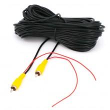 Verlengkabel RCA-video 10 meter lengte voor achteruitrijcamera / Met trigger-wire / HaverCo