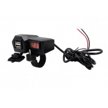 USB-poorten voor op motorfiets USB 2x 10-24V naar 5V 3.4A USB-out / HaverCo
