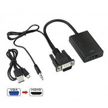 VGA naar HDMI converter HD audio converter HDTV kabel adapter / HaverCo