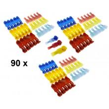 Scotch lock 90 stuks 10A (rood) 15A (blauw) 24A (geel) Connectors / HaverCo