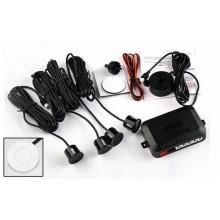 Parkeersensoren met speaker / 4 stuks wit / 12V / Parkeersysteem Parkeerpiepers