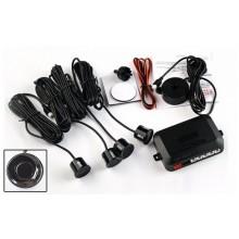 Parkeersensoren met speaker / 4 stuks zwart / 12V / Parkeersysteem Parkeerpiepers