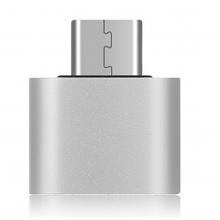 USB-C type C 3.1 male naar USB 3.0 female adapter stick  / Zilver / Adapter met OTG functie