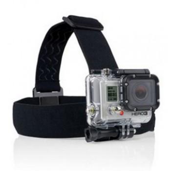 Hoofdband Headstrap Headband Bevestigingsband voor alle modellen GoPro Zwart